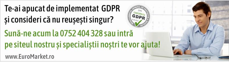 Ai nevoie de suport pentru implementarea GDPR in organizatia ta? Suna-ne acum la 0752404328