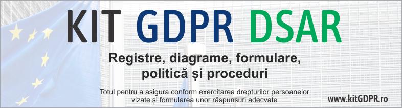 Kit GDPR DSAR – 31 Politici si Proceduri, Registre, Diagrame, Documente obligatorii pentru conformarea la prevederile GDPR Art.12,15-22 - respectarea drepturilor persoanlor vizate