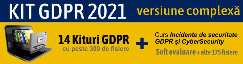 Kit GDPR COMPLET 2020 format din 12 Kituri GDPR – peste 300 documente + gratuit alte 145 documente si software gratuit
