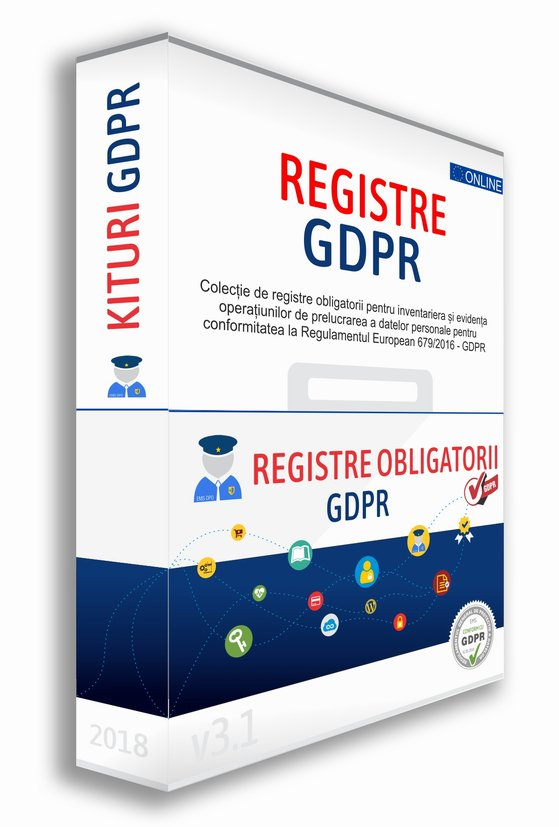Detalii despre Kitul de Registre Obligatorii pentru conformitate la GDPR