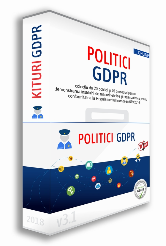 Detalii despre Kit Politici GDPR Toolkit Politici GDPR