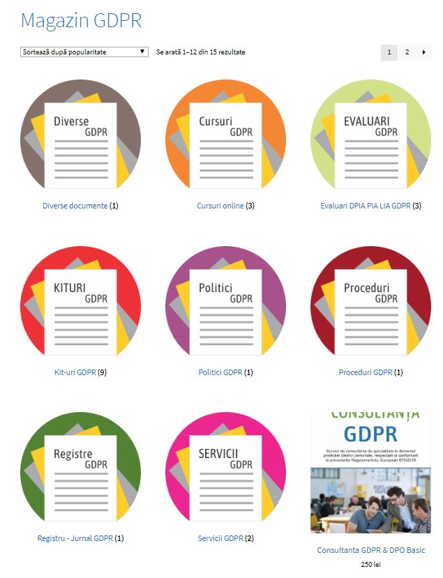 Detalii despre Servicii Conformitate GDPR si produsele aferente GDPR